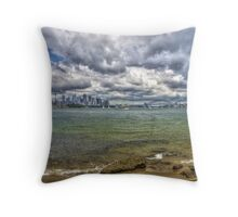 Sydney with Icons Throw Pillow