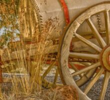 "Little antique wagon on display at the ""Vroue Monument"" in Bloemfontein, South Africa Sticker"