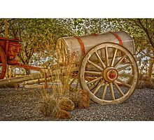 """Little antique wagon on display at the """"Vroue Monument"""" in Bloemfontein, South Africa Photographic Print"""