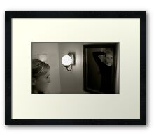 Reflection of Gracie Framed Print