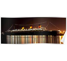 Luxurious Lady, Queen Mary at Night Poster