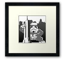 Kong_Trooper attacks Empire State Framed Print