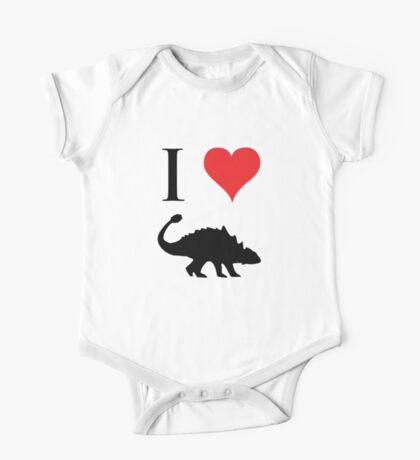 I Love Dinosaurs - Ankylosaurus One Piece - Short Sleeve