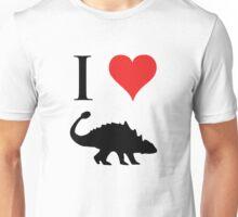 I Love Dinosaurs - Ankylosaurus Unisex T-Shirt