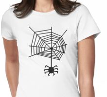 spider web with spider Womens Fitted T-Shirt