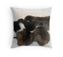 First Huddle - The Saints go Marchin' In Throw Pillow