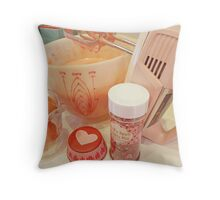 """""""The Makings Of A Cupcake"""" Throw Pillow"""