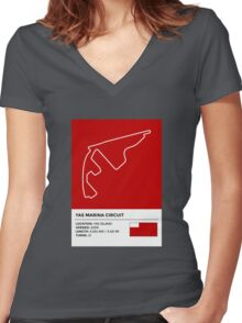Yas Marina Circuit - v2 Women's Fitted V-Neck T-Shirt