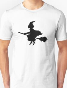 Witch on a Broomstick Unisex T-Shirt