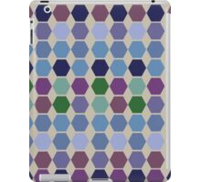 Berry cool colours hexagon quilt iPad Case/Skin