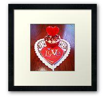"""Love Is A Cupcake"" Framed Print"