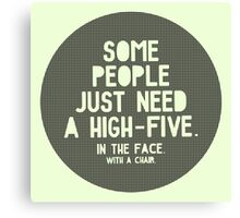 High-five 2 Canvas Print