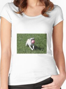 Dog and Ball Women's Fitted Scoop T-Shirt