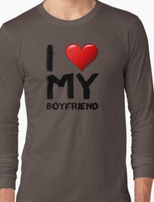 I love (heart) my boyfriend Long Sleeve T-Shirt