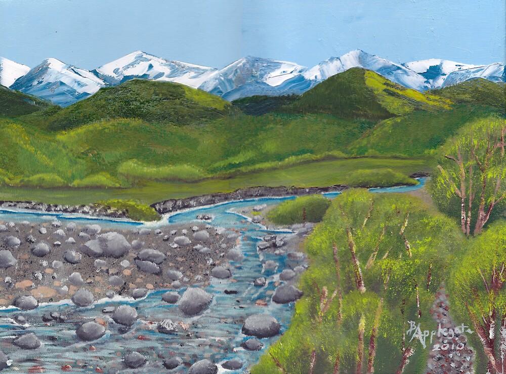 Mountain Creek ~ Western Landscape ~ Oil Painting by Barbara Applegate