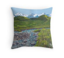 Mountain Creek ~ Western Landscape ~ Oil Painting Throw Pillow