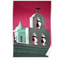 Red Sky Over San Xavier Poster