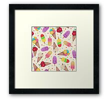 I scream for Icecream! Reprise Framed Print