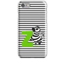 z for zebra iPhone Case/Skin