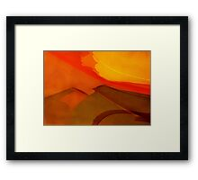 Blazing Summer in the City Framed Print