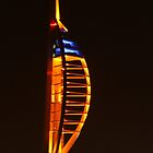 Golden Spinnaker Tower, Portsmouth by Jane Burridge