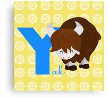 y for yak Canvas Print