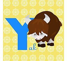 y for yak Photographic Print