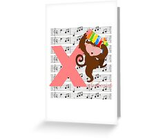 x for xylophonist Greeting Card