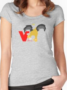 v for vulture Women's Fitted Scoop T-Shirt