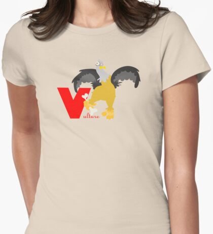 v for vulture Womens Fitted T-Shirt