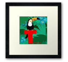 t for toucan Framed Print