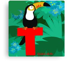 t for toucan Canvas Print
