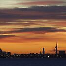 Sunset Over Portsmouth by Jane Burridge