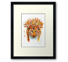 Chief Cat Framed Print