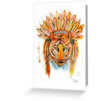 Chief Cat Greeting Card