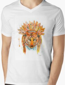 Chief Cat Mens V-Neck T-Shirt