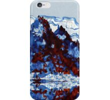 Chinese mountain lake and boat iPhone Case/Skin