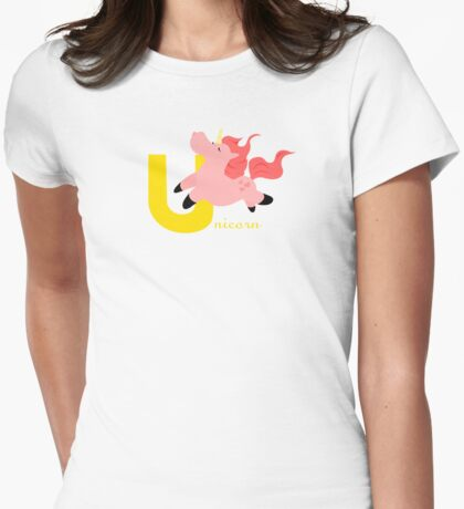 u for unicorn Womens Fitted T-Shirt