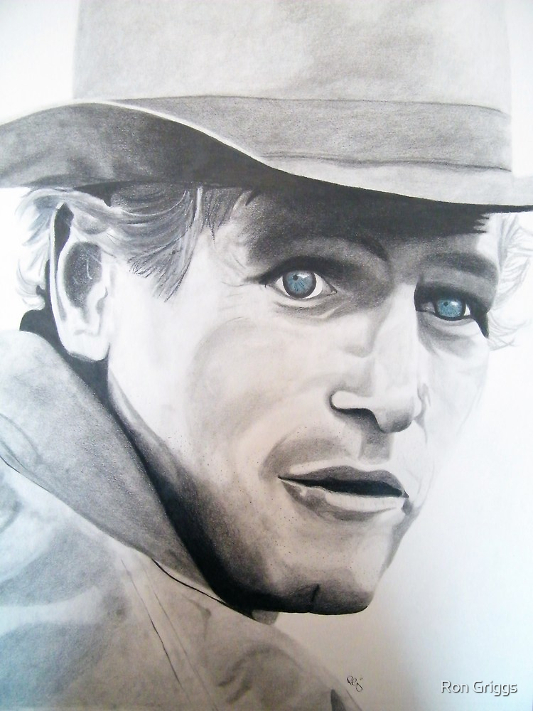 Butch Cassidy- Paul Newman by Ron Griggs