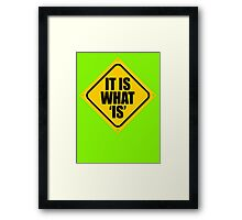 IT IS WHAT 'IS' Framed Print