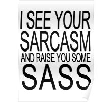 I see your sarcasm and raise you some sass Poster