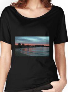 Sunset over Penguin Beach, Tasmania, Australia. Women's Relaxed Fit T-Shirt