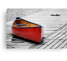 The Red Canoe  Canvas Print