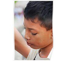 Pouting boy Poster