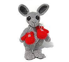 Knitted Kangaroo Photographic Print