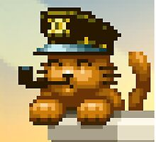 AQUA KITTY - Captain cat by Tikipod