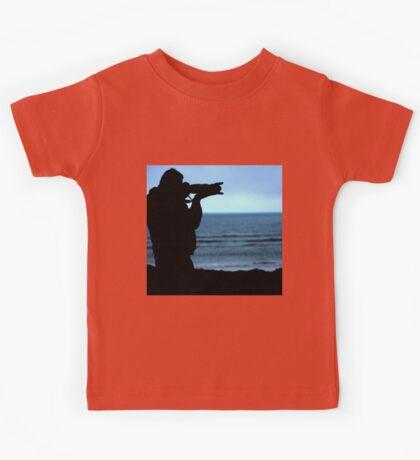 Photographer Silhouette Kids Tee