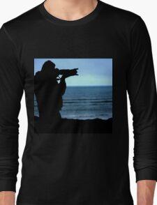 Photographer Silhouette Long Sleeve T-Shirt