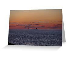 Sunset Freighter Greeting Card