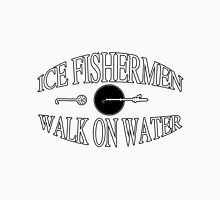 Ice fishermen walk on water Unisex T-Shirt
